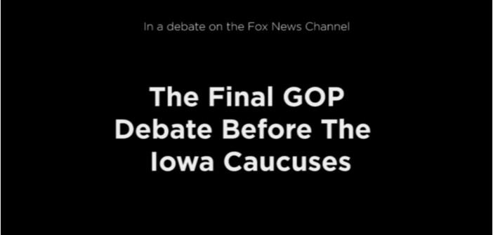 GOP Candidates Closing Arguments At The Final Republican Debate Before Iowa