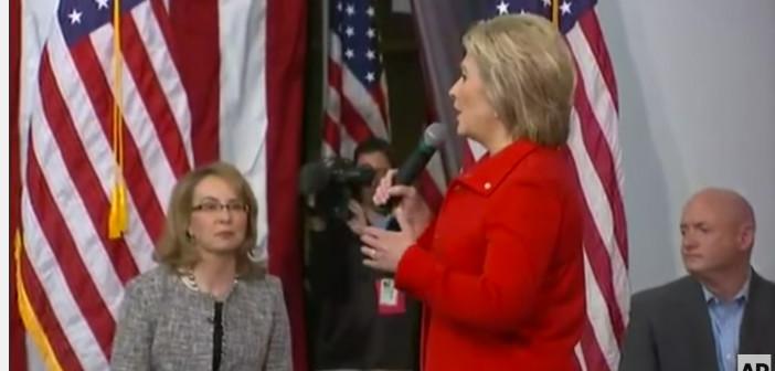 Clinton Talks Gun Laws Alongside Giffords
