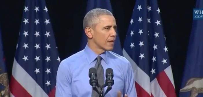 Obama Speaks In Flint Michigan: 'I've Got Your Back'