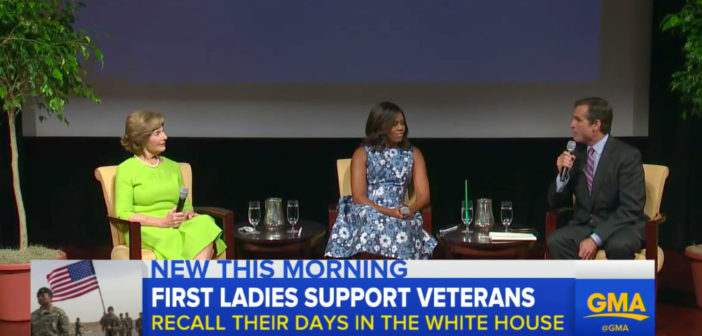 Michelle Obama, Laura Bush Team Up for Veteran Families
